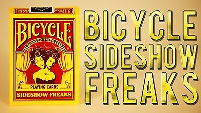 Sideshow Freaks Bicycle Deck Of Playing Cards By Uspcc Magic Tricks Collector