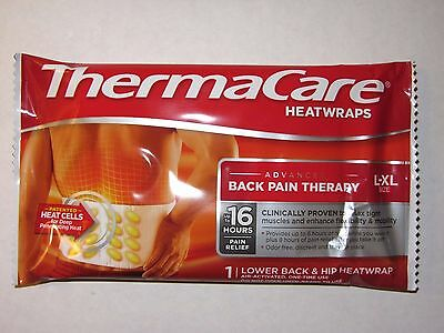ThermaCare Heat Wraps Lower Back and Hip Size L-XL * Advanced Back Pain Therapy*