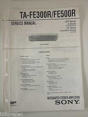 Schema SONY - Service Manual Integrated Stereo Amplifier TA-FE300R TA-FE500R