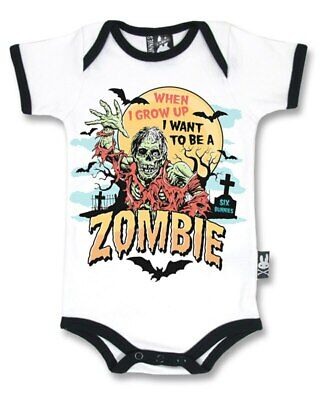 Six Bunnies Grow Up to be a Zombie Baby Onesie Bodysuit Funny Horror Costume