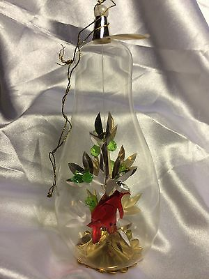 Vintage Resl Lenz Partridge In A Pear Tree Glass Christmas Ornament