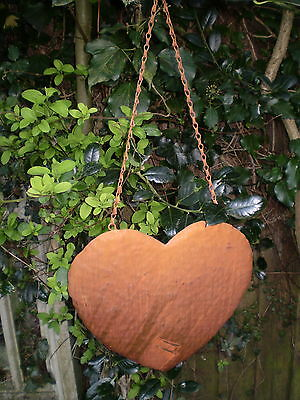 Vintage French Valentines Metal Heart Hanging Decoration Home Or Garden