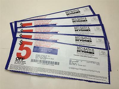 20 BED BATH & BEYOND COUPONS $5 off $15 PURCHASE NO EXPIRATION