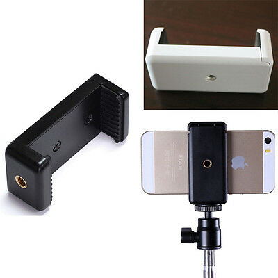 Mini Universal Mobile Cell Phone Clip Bracket Holder For Tripod/Monopod Stand A2