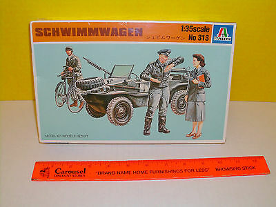 ITALY IMPORT ITALERI WW2 MILITARY 1/35 WWII GERMAN SCHWIMMWAGEN WITH GIRL FIGURE