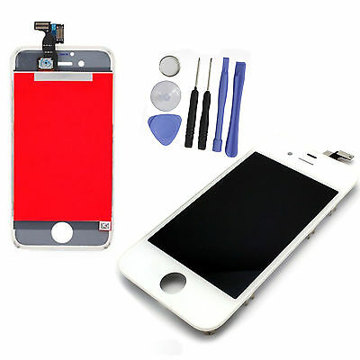 New White LCD Display Touch Screen Digitizer Assembly Replacement for iPhone 4S