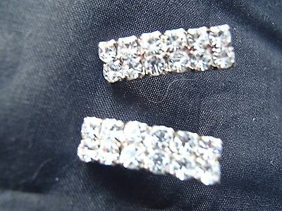MUST SEE amazing vintage brilliant clear rhinestone delicate post type  earrings