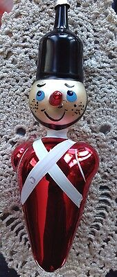 VTG Dramatic Figural Italian Hand Blown Christmas Ornament Pinocchio Toy Soldier
