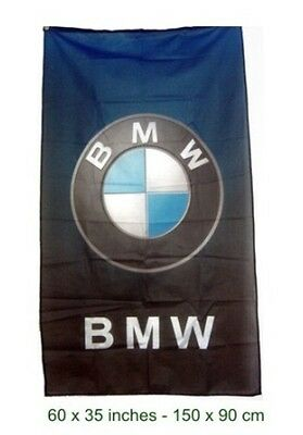 NEW BMW LOGO FLAG blue to black  BANNER VERTICAL SIGN POWER 3x5 FEET M5 M6 M3