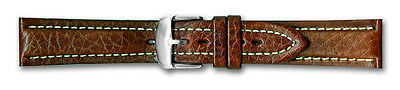 Hadley Roma Breitling Style Genuine Leather Watch Band