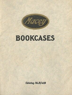Macey Trade Catalog For Lawyer Bookcases & seperate Price Cat..Very RARE to find