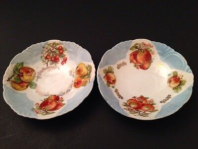 Antique Pair Of PORCELAIN Fruit Bowls Made In BAVARIA By F.P.