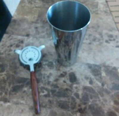 Vintage Ekco alcohol shaker and strainer fast shipping!