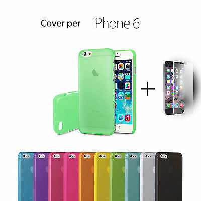 COVER Custodia Morbida TRASPARENTE TPU GEL Silicon + PELLICOLA per iPhone 6 4.7""