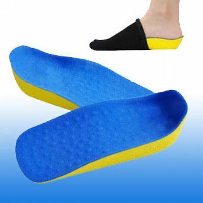 SECRET Height Increase Insoles In Sock Shoes Pad Insert Heel Cups Foot Care New