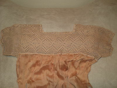 Antique Edwardian Handmade Crochet Yoke Nightgown SE MO ANTIQUE STORE AUCTION