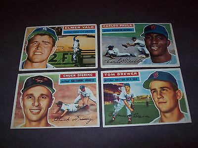 1953 1954 Bowman 1956 1957 Topps Baseball lot of 10 (complete your set