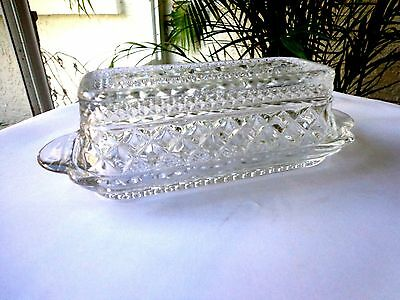 Anchor Hocking - Wexford Pattern Lidded Butter Dish