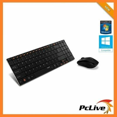 Rapoo 9060 2.4GHz Wireless Ultra Slim Keyboard and Mouse Optical Media control
