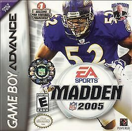 MADDEN NFL 2005 Football Nintendo Game Boy Advance & sp ds lite Sgame only