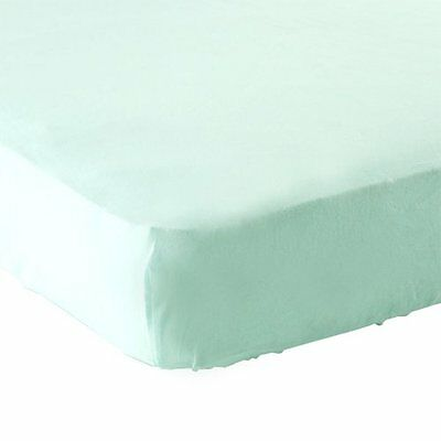 Luvable Friends Fitted Knit Crib Sheet, Mint , New, Free Shipping
