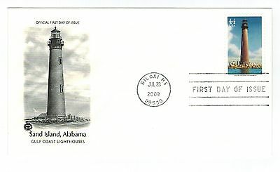 FIRST DAY ISSUE SAND ISLAND ALABAMA US STAMP JUL 23,2009, S#65