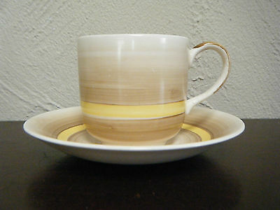 Vintage Art Deco Johnson Brothers Pareek hand painted cup & saucer. England