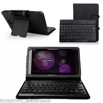 """Wireless Bluetooth Keyboard Case Cover Detachable for Dell venue / Pro 8"""" Tablet"""