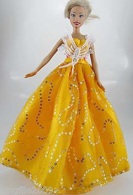 Fashion New Handmade Wedding Dress Clothes Outfits For Barbie Doll #794