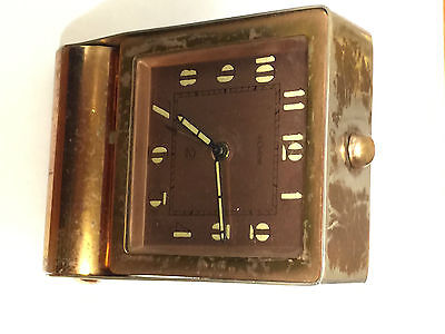 VINTAGE LECOULTRE USED 2 DAY TRAVEL CLOCK FOR PARTS OR REPAIR