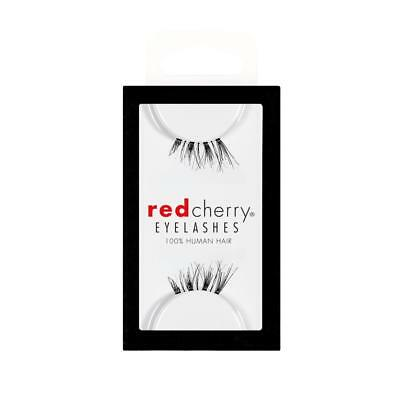 86a7c704b72 Lot 10 Pairs GENUINE RED CHERRY Accent DS04 Human Hair Lashes False  Eyelashes