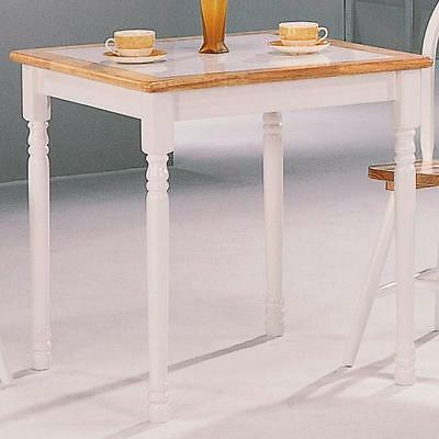 Damen Square Tile Top Casual Dining Table in Natural and White by Coaster 4191