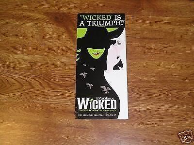 WICKED 2 Tickets  NYC WED  5/13/15     2PM   ORCH  Row 5 GREAT DEAL !!