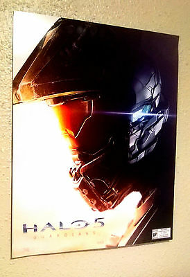 Halo 5 Guardians Poster Promo Cardboard XBOX Limited Microsoft