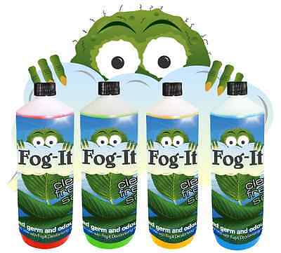 1 Ltr Fog-It Refill Fogit Deodorising Fogger Machine Valeting Products Business