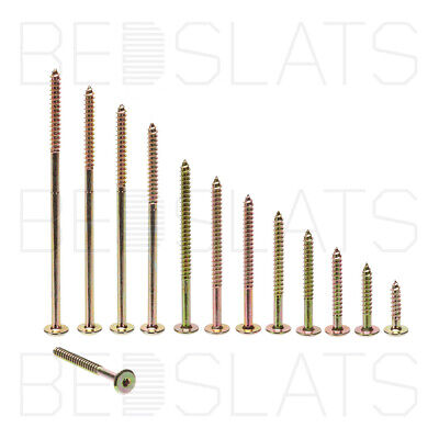 Flat Head Hex Drive Furniture Screws for Wood, Timber, Beds, Cabinets, Cots