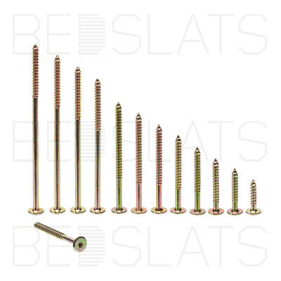 Flat Head Hex Furniture Fixing / Connector Screws (Not Bolts) for Wood/ Timber