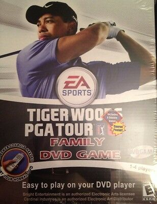 TIGER WOODS PGA TOUR 07 FAMILY DVD GOLF GAME MINT / Sealed!