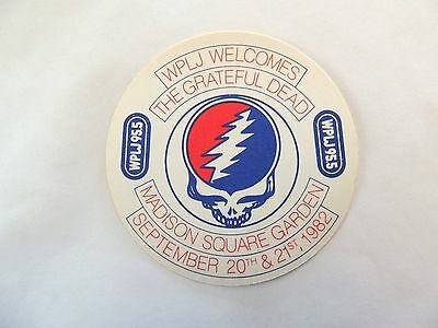 """""""Grateful Dead"""" WPLJ 95.5 Concert Sticker 1982 Mint/ How Cool Is This!!!"""