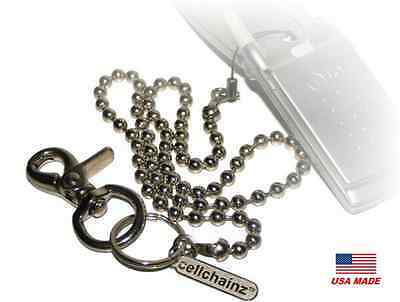 Wallet or Cellphone Security Chain, Ball Chain Hand Strap - Lanyard - CELLCHAINZ