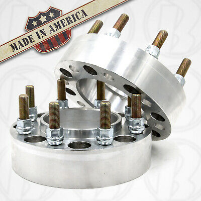"USA MADE 8 Lug 6.5"" CHEVY HUB CENTRIC Wheel Spacer/adapt. 2"" Thick W/Studs &nuts"