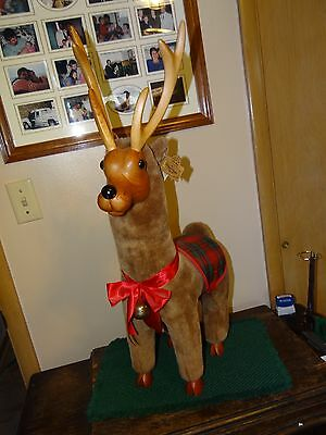 Robert Raikes Christmas Tinsel Deer , Hard to find! This is a Big guy! Nice!