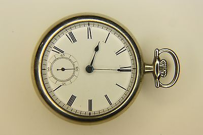 Antique 19th New York Standard Pocket Watch Co 18S Silver Hunting Case ZZ29