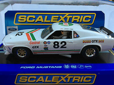Scalextric Ford Mustang BOSS 302 Castrol GTX #82 1/32 Analog Slot Car DPR #3538