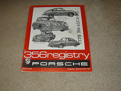 Porsche  356 Registry Magazine August/September 1980