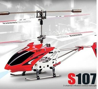 Syma S107G 3 Channel RC Radio Remote Control MINI Helicopter with Gyro  Red