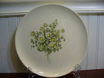 """Taylor Smith Taylor Porcelain Ever Yours Summer Showers White Daisy 10.25""""Plate"""