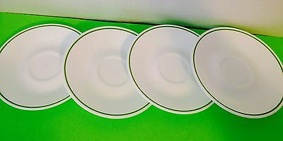 Corelle Corning, Floral Spray, Saucers, Lot Of 4