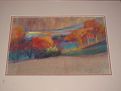 "BEAUTIFUL FALL PASTEL PAINTING by PA ARTIST: MARIANNE FYDA SIGNED ""OCTOBER NEON"""
