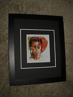 Muhammad Ali Framed Close-Up Image after 1971 Frazier Fight by Leroy Neiman